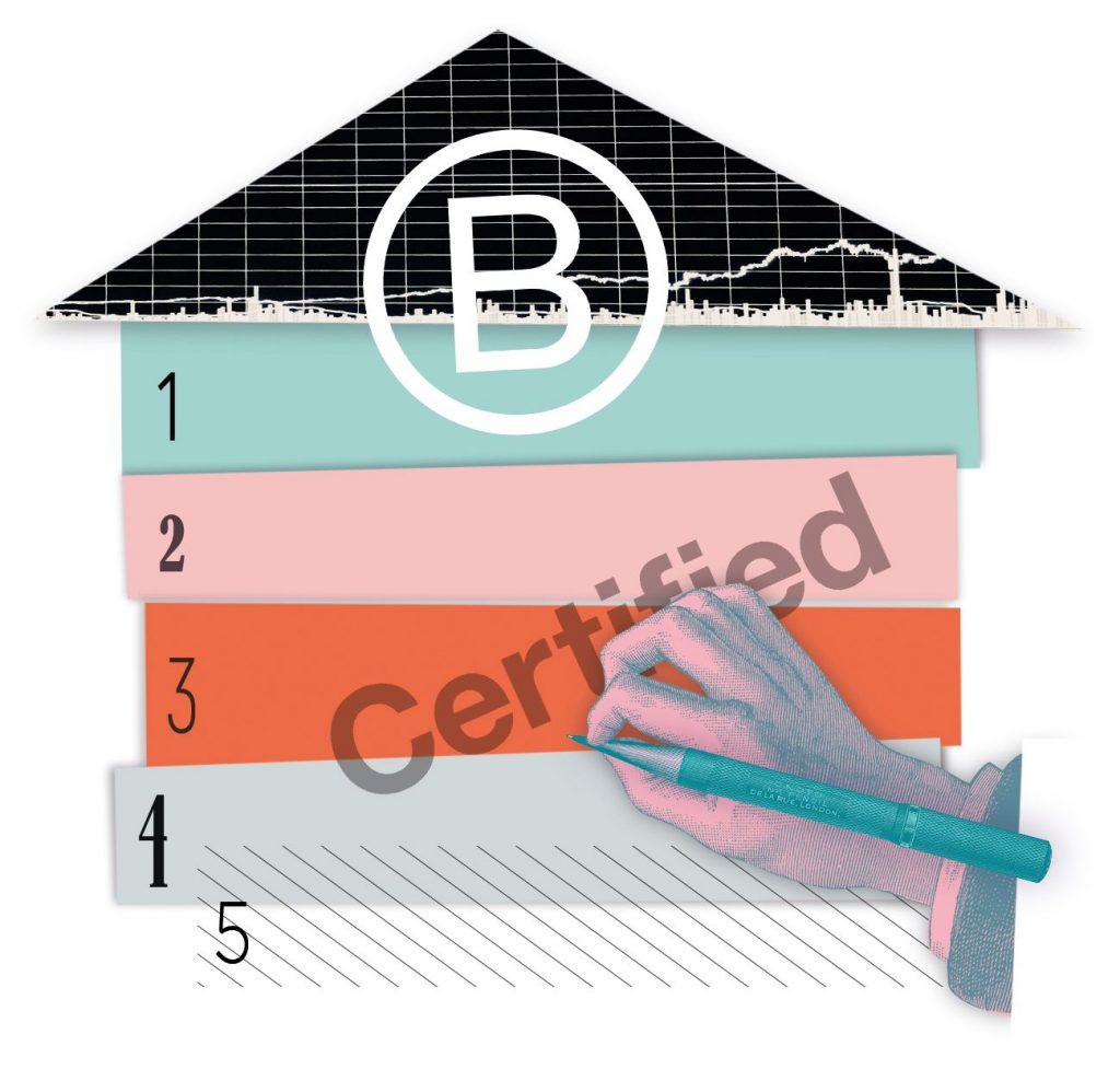 Illustration B Corp critères d'évaluation par Severine Scaglia