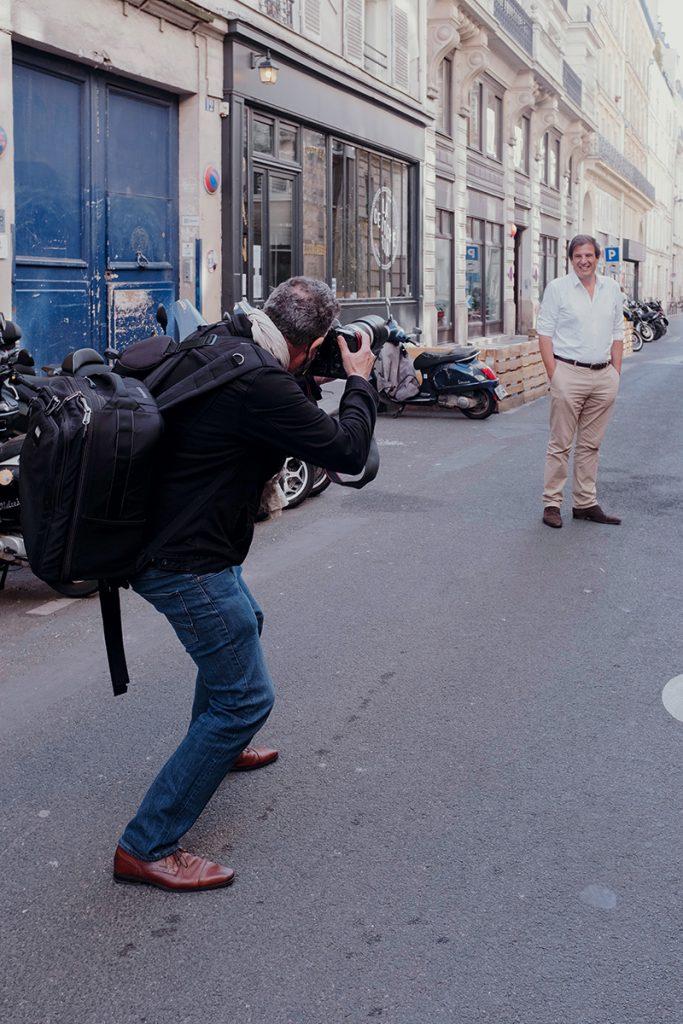 Interview shooting photo de Florian Grill